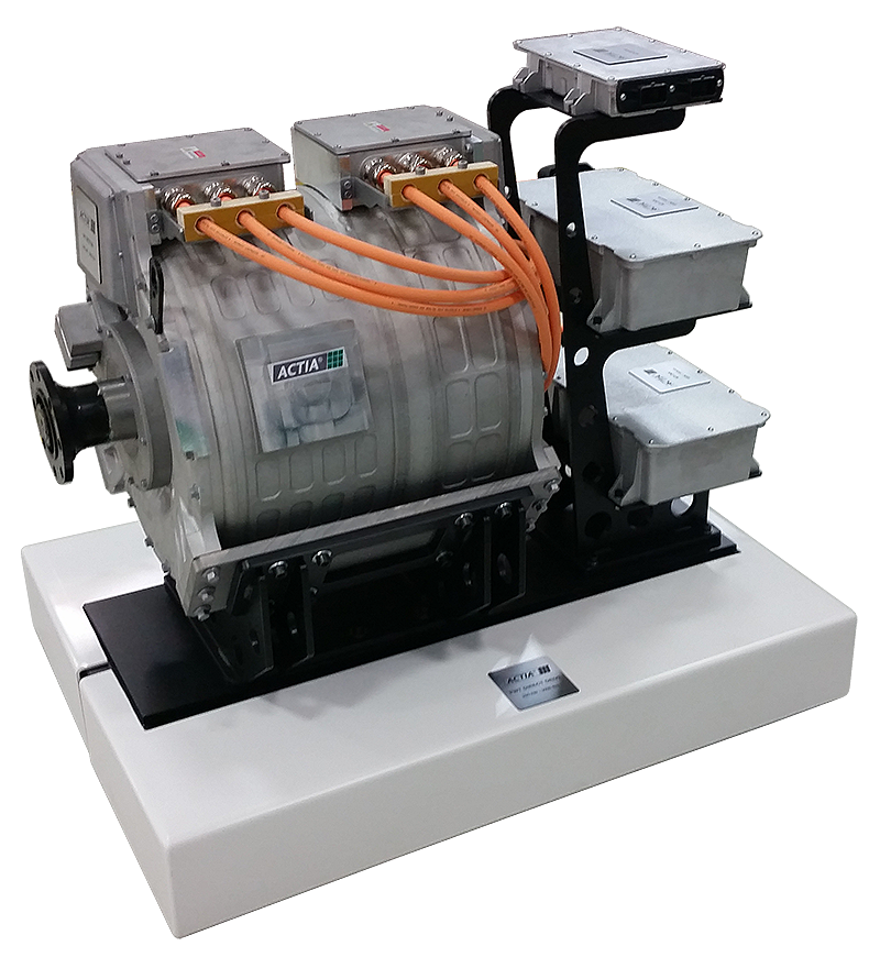 ACTIA 200kW - 3000Nm direct drive powertrain(motor/inverter/dc-dc converter/vehicle system supervisor)